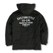 KUSTOMSTYLE TRUCK DOOR MILITARY HOODIE BOA HW JACKET ブラック