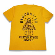 "KUSTOMSTYLE ""RECOGNIZED"" GOLDEN  Tシャツ イエロー"