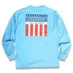 "KUSTOMSTYLE ""CLASSIC WHEELS"" LONG SLEVE TEE 長袖Tシャツ CAROLINA BLUE"